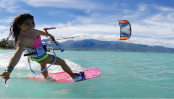 Kiteboarding lessons all year.